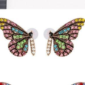 Butterfly earrings pastel colors